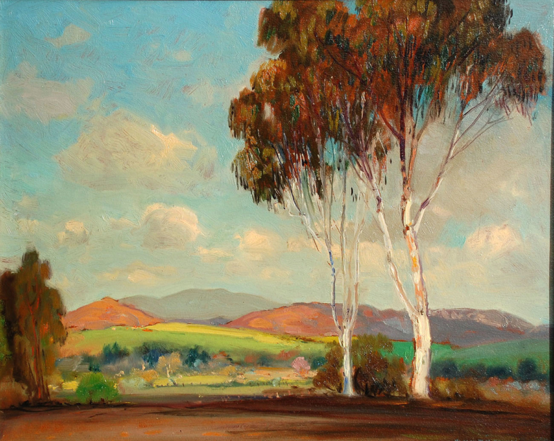 "Alfred Mitchell (1888-1972) ""Bright Morning"" Oil on board 16""x20"""