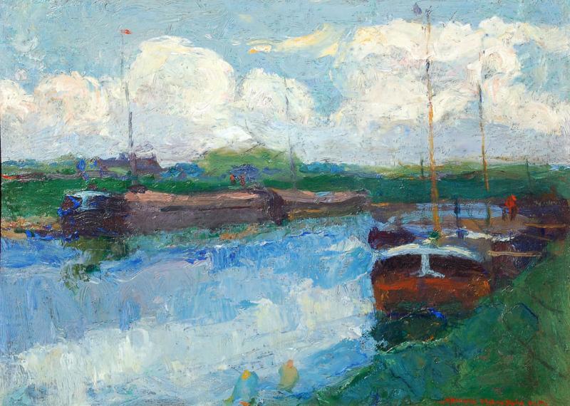 Armin Hansen- Sunny Day on the Canal