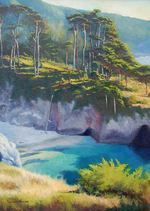 Douglas Morgan-Emerald Cove,oil on canvas 30_x22_