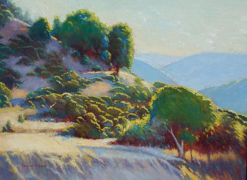Douglas Morgan-Hillside Highlights, oil on canvas, 18_x24_