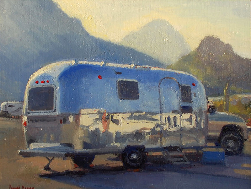 Douglas Morgan-Just Polished, oil on panel 11_x14_