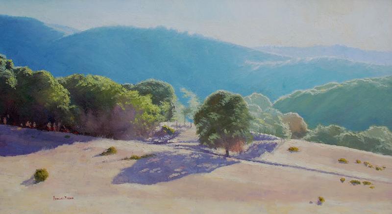 Douglas Morgan-Sunset Ridge, oil on canvas 25_x45_