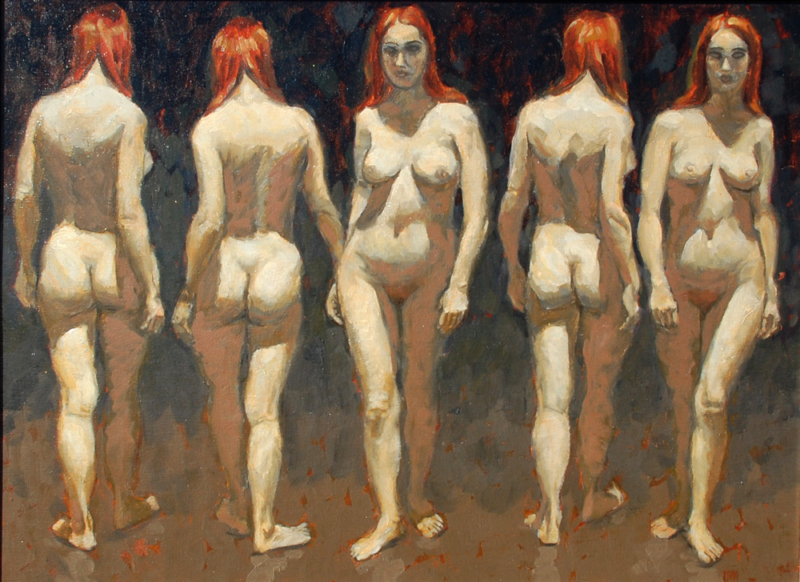 George-Mattson-Five-Female-Nudes-oil-on-board-18_x24