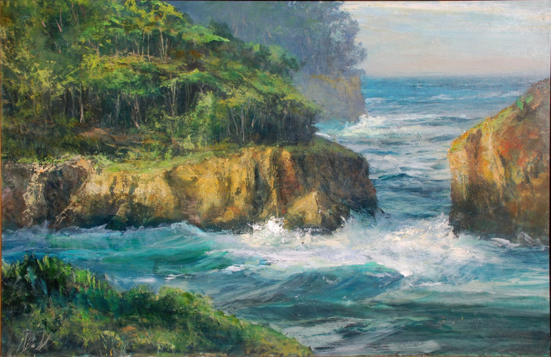 Gil Dellinger- Point Lobos Splendor, oil_acrylic on board 24x36