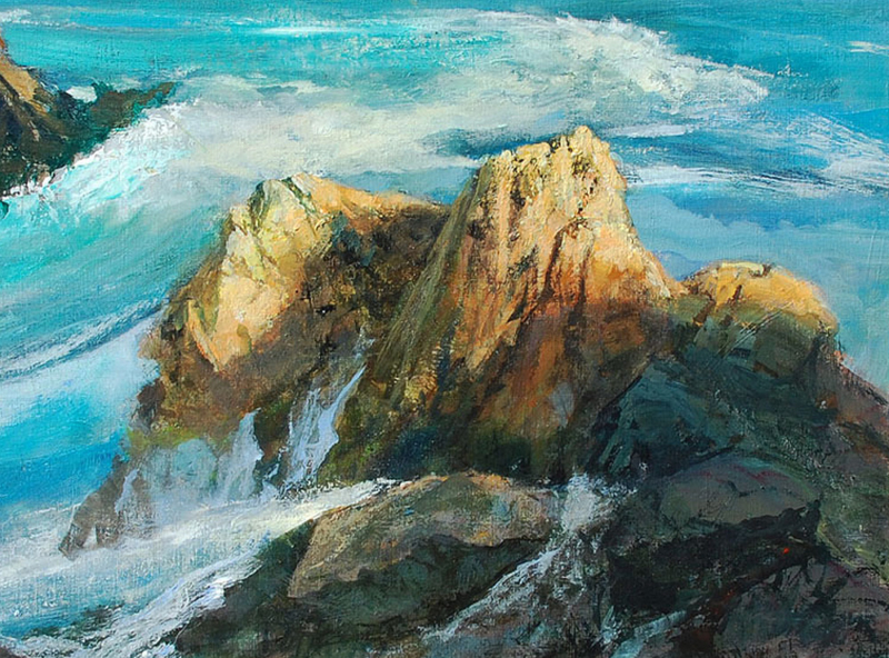 Gil-Dellinger-Surf-off-Point-Lobos-oil_acrylic-on-board-12x16