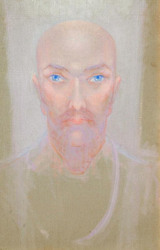 Henrietta Shore- The Prophet, oil on canvas 18_x12_