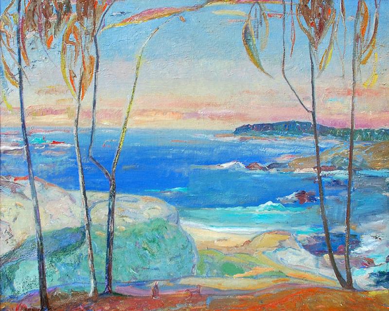 Jennie Vennerstrom Cannon-Decoration Landscape, oil on panel 24_x30_