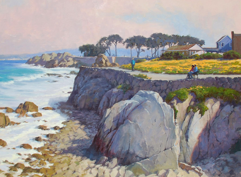 John Cosby-Lover_s Point, Pacific Grove, oil on canvas 30x40