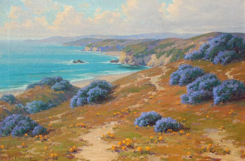 "John Gamble (1863-1957) ""View To Golita"" Oil on canvas 20""x30"""