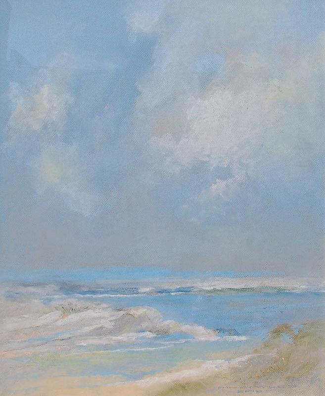Michael Cowles-The Coast Near Monterey, pastel 24x20_