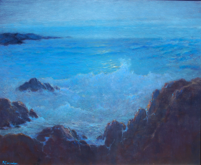 Ray Carpenter-A Pebble Beach Vista, oil on canvas 20x24_
