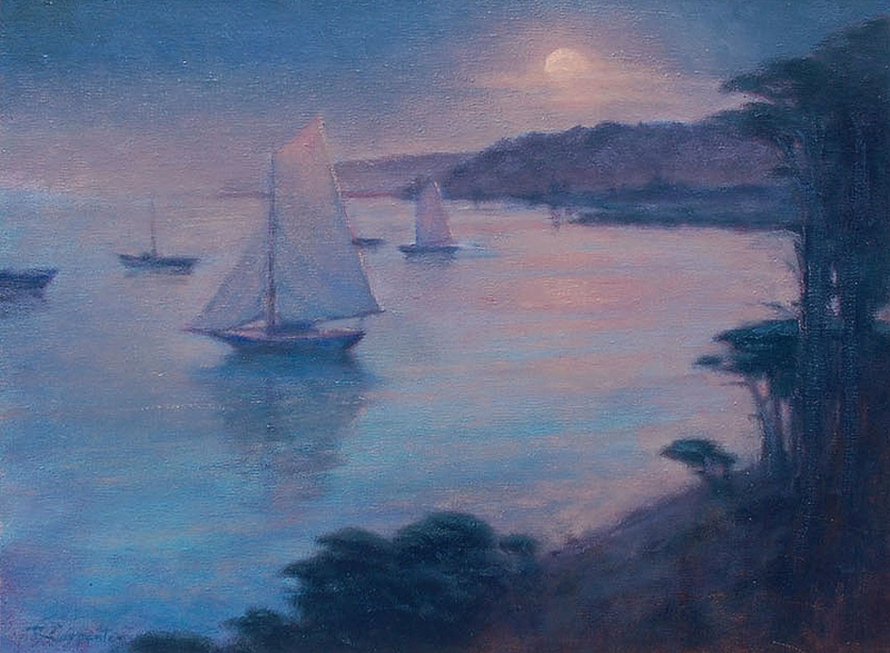 Ray Carpenter-Monterey at Dusk,oil on canvas 12_x16_