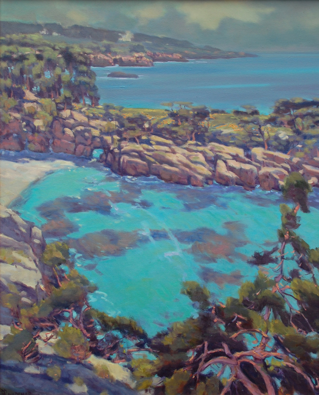 Rodolfo Rivademar-China Cove, oil on canvas 30x24