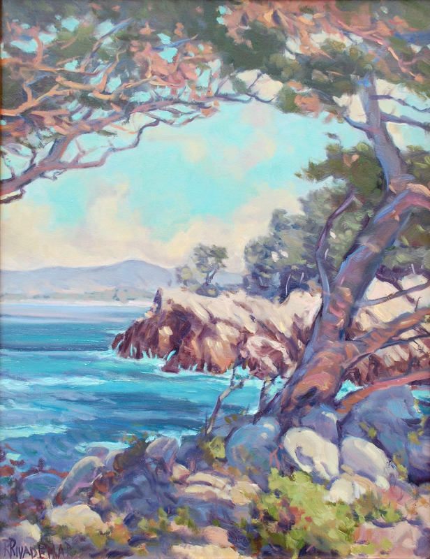 Rodolfo Rivademar-Cypress Point, Pt Lobos, oil on panel 20_x16_