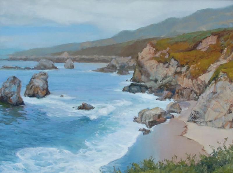 Sterling Hoffmann-Garapatta Cliffs, oil on canvas 18_x24_
