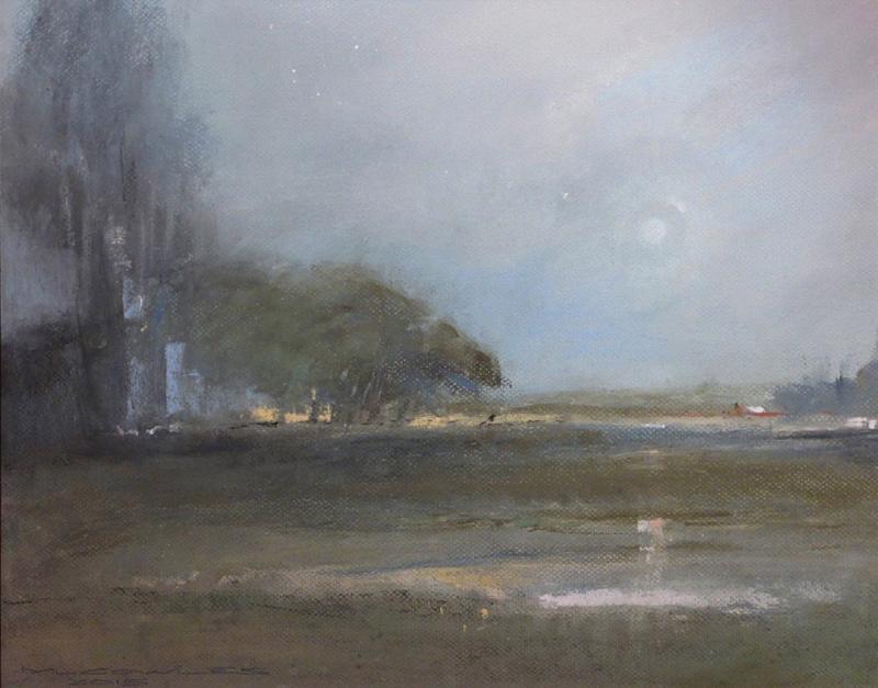 Michael Cowles-The Event, Jupiter Ascending, pastel 16x20