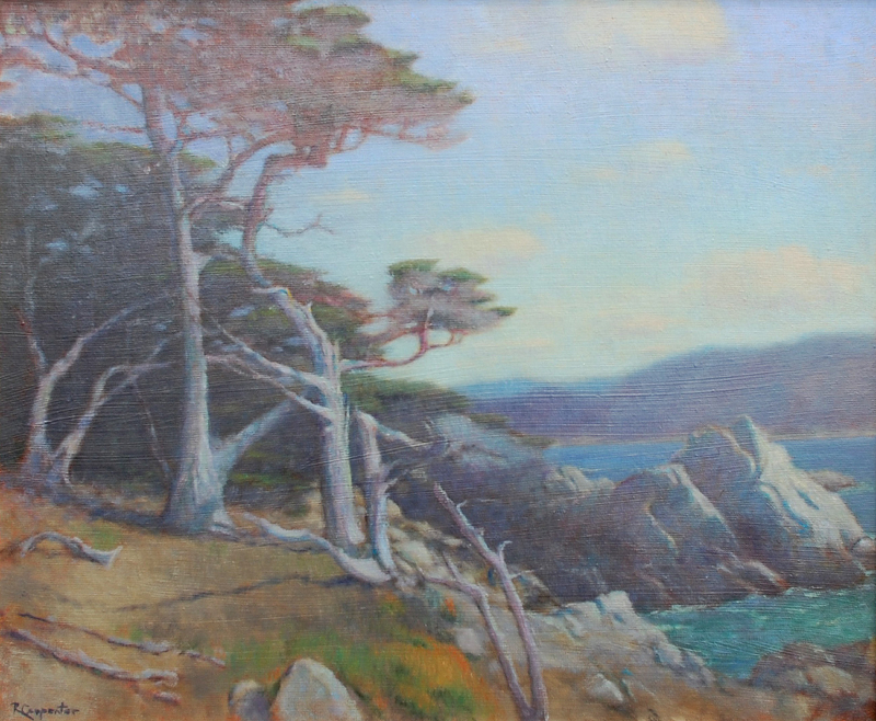 Ray Carpenter-A Stand of Cypress,oil on canvas 20x24