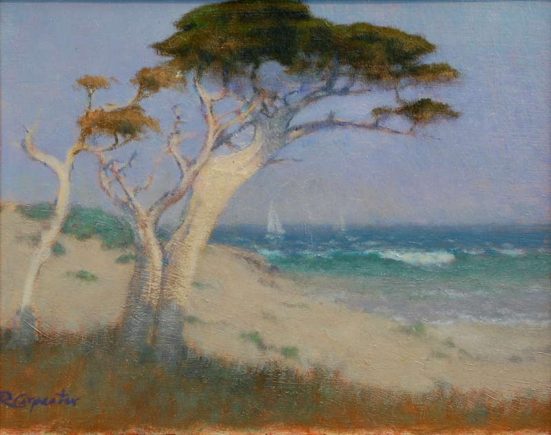 Ray Carpenter-The Dunes & Cove, oil on panel 8x10